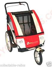Baby Pusher Stroller Trailer Bicycle Jogging Bike Folding 2 Seats Seater Harness