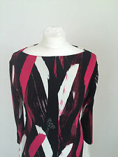 Jasper Conran Ladies abstract print crew neck long sleeved Bodycon Dress BNWOT
