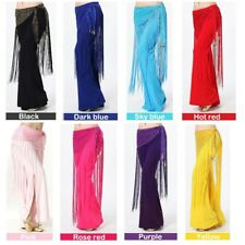 Belly Dance Costume Sequins Long Tassel Belt Hip Scarf Wrap 8 Colors UK