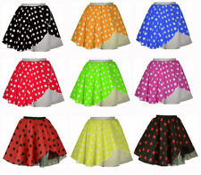 New Style Adults POLKA DOT ROCK AND ROLL 50s SKIRT With Net UK Made