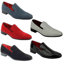 Mens Slip On Patent Leather Suede Driving Smart Loafers Shoes 6 7 8 9 10 11 12