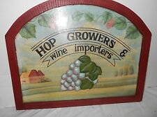 VINTAGE COLLECTIBLE WOODEN WALL HANGING ADVERTISING SIGN.