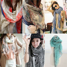 Hot Womens Ladies flowers Voile Soft Long Shawl Girls Scarf Wrap Stole Fashion