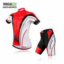 Mens Cycling Bicycle Outdoor Short Sleeves Shirts Jersey+(Bib) Shorts for NEW!