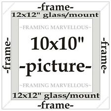 Oak Effect Photo Picture Frame with White Mount - Choose size