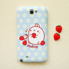Cute Molang Phone Hard Back Skin Case Cover for Smart Phone - Sky strawberry