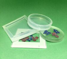CLEAR SILICONE MOLD (MD088), ROUND, SQUARE  COASTER MOLD