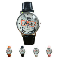 Fashion Womens Watch Ladies Watch Quartz Wrist Watch Casual Watch Cat Pattern