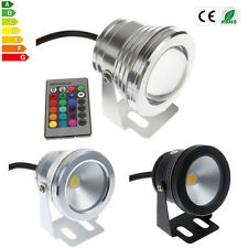 Waterproof 10W RGB LED Underwater Light Spotlight Lamp Pond Fountain Pool Lights