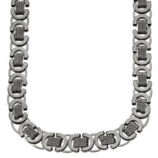 Iced Out Solid Hip Hop Chain - BYZANTINE 10mm black
