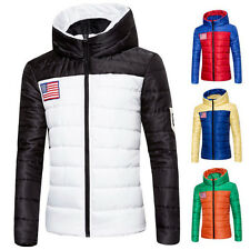 Men's Winter Warm Down Cotton Thick Jacket Outwear Padded Hooded Coat M-3XL