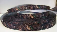 "GROSGRAIN CAMO TREE CAMOUFLAGE 3/8"" INCH RIBBON 1, 3 or 5 YARDS **SHIPS FREE*USA"
