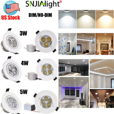 3W 5W 7W LED Recessed Ceiling Downlight Fixture Lamp Spot Light  Warm Cool White