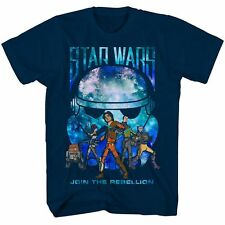 """Star Wars Boys Short Sleeve T Shirt """"Join the Rebellion"""" NWT Sizes 5/6 or 7 Navy"""