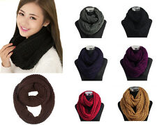 Women's Chunky Thick Cable Knitted Fashion Winter Eternity Infinity Loop Scarf