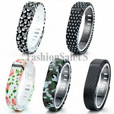 Fashion Skull Grip Replacement Wrist Band Wristband With Clasp For Fitbit Flex