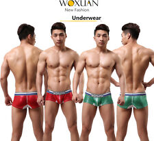 New Sexy Mens Underwear Boxer Briefs Trunks Shiny Cool Shorts Underpants W13