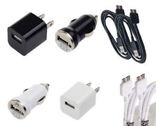 Micro USB Cable + Wall + Car 2x 3ft Chargers Cord for Galaxy S5 Note 3