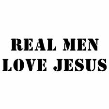 REAL MEN LOVE JESUS (Christian cross Christ saves byzantine icon God) T-SHIRT