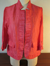 Chicos (1) NWT Coral Jacket, Lightweight, Rolled Sleeves, Shirred Front-Sz. Med