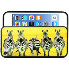 Yellow Zebra Hard Back Case for Apple iPod Touch 6 6th Gen itouch Cover