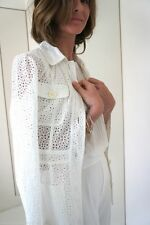 NEW ZARA BRODERIE ANGLAISE JACKET COAT WITH COLLARS FOUR POCKETS SIZE M MASSIMO