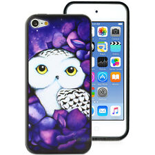NEW Purple Snowy Owl Hard Back Case for Apple iPod Touch 5 5th 6 6th Gen Cover