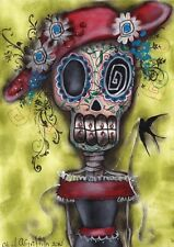 Looking for Love Fine Art Print by Abril Andrade Sugar Skull Day of the Dead