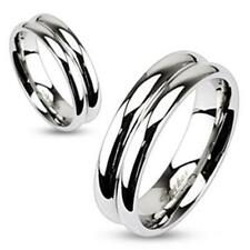 Unisex Ring silver polished high gloss 9 Size Stainless Steel Jewelry