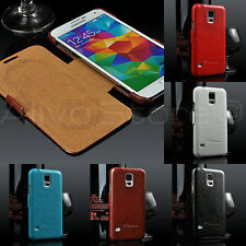 Ultra Slim Luxury Leather Wallet Book Flip Case Cover for Samsung Galaxy S5