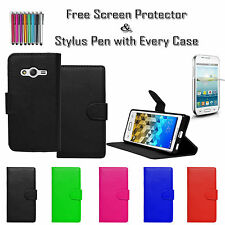 Premium Leather Pu Wallet Flip Case Cover Holder For Samsung Galaxy Trend 2 Lite