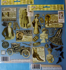 NEW LADIES or MEN COLLAGE Vintage * Your Choice * ROYAL LANGNICKEL Rub-Ons