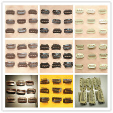 Lot 50Pcs 28-36mm U Shape Snap Metal Clips For Hair Extensions Weft Clip-on Wig