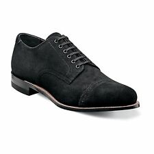 Stacy Adams Mens Black Madison Suede Oxford Trendy Lace Up Dress Casual Shoe