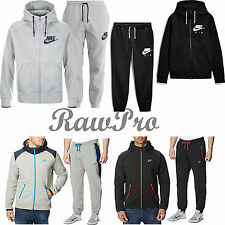 New Mens Nike Full Tracksuit Trousers Pants Black Round Neck Sweatshirt Bottoms
