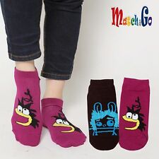 Meisterin Match&Go 8prs Women Men Pink Cartoon No Show Cotton Socks Korea