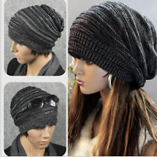Unisex Womens Mens Knit Baggy Beanie Hat Winter Warm Oversized Ski Cap 80