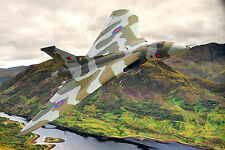 Avro Vulcan Bomber Digital Painting - Ready To Hang -  Large Framed Canvas Print