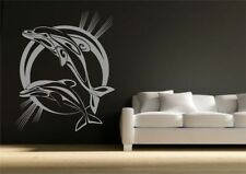 Dolphin Bathroom Wall Sticker Vinyl Decal Transfer Mural Stencil Art Tattoo