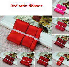 3pcs Different Width Wedding Party Craft Double Sided Satin Ribbons ManyColor J