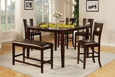 Modern Dining Upholstered Matching Faux Leather Dark Brown Counter Height Chairs