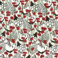 NUTEX FABRIC - 100% Cotton - Happy Hens & Poppies (89140-101)