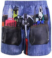 Tool Belt Mens Boxers Denim Look Polyester Boxer Shorts Mitch Dowd Gift BNWT