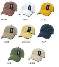 Decky Vintage Frayed Pre Curved Bill 6 Panel Polo Caps Hats Cap Hat NEW