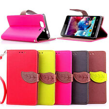 Fashion Leather Flip Wallet  Card Slot Case Stand Cover For  Smart Mobile Phone