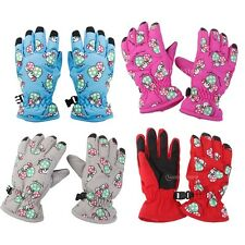 Kids Boy Girls Winter Thermal Fleece Warm Ski Snow Cycling Mitts Gloves 2-4 Yrs