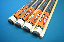 SET OF 4 POOL CUES New 1/2 Maple Billiard Pool Cue Stick #3 FREE SHIPPING COST