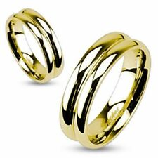 Unisex Ring gold polished high gloss 5 Size Stainless Steel Jewelry by ALLFORYOU