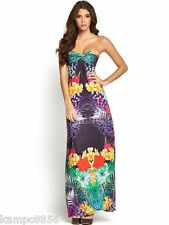 New Lipsy Bandeau Strapless Floral Maxi Dress Sz UK 8 10 12 16  rrp £55
