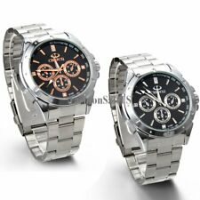 Men's Luxury Anaog Dial Stainless Steel Band Sport Casual Quartz Wrist Watch New